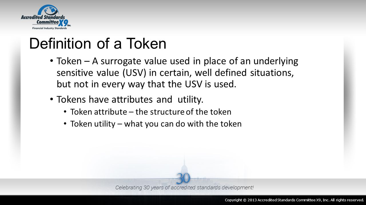 Definition of a Token