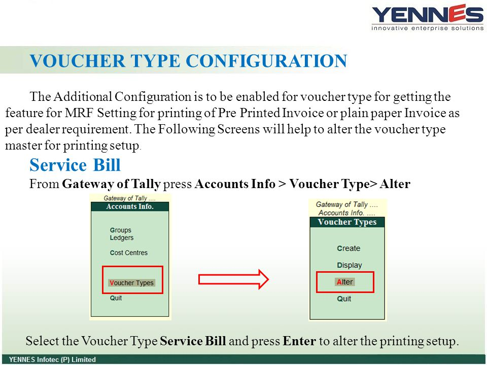 VOUCHER TYPE CONFIGURATION