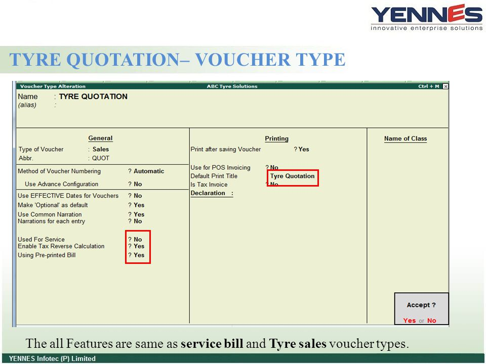 TYRE QUOTATION– VOUCHER TYPE