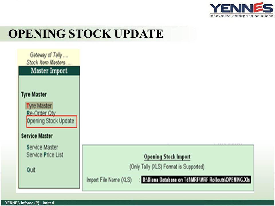 OPENING STOCK UPDATE
