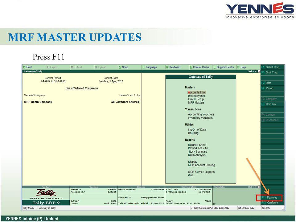 MRF MASTER UPDATES Press F11
