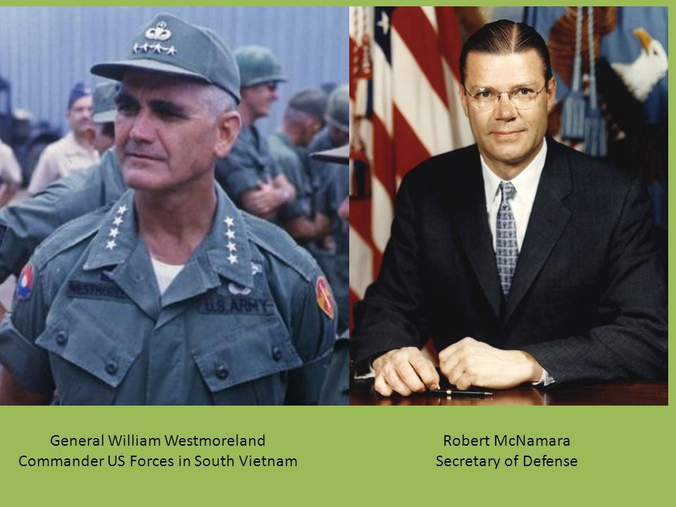 General William Westmoreland Commander US Forces in South Vietnam