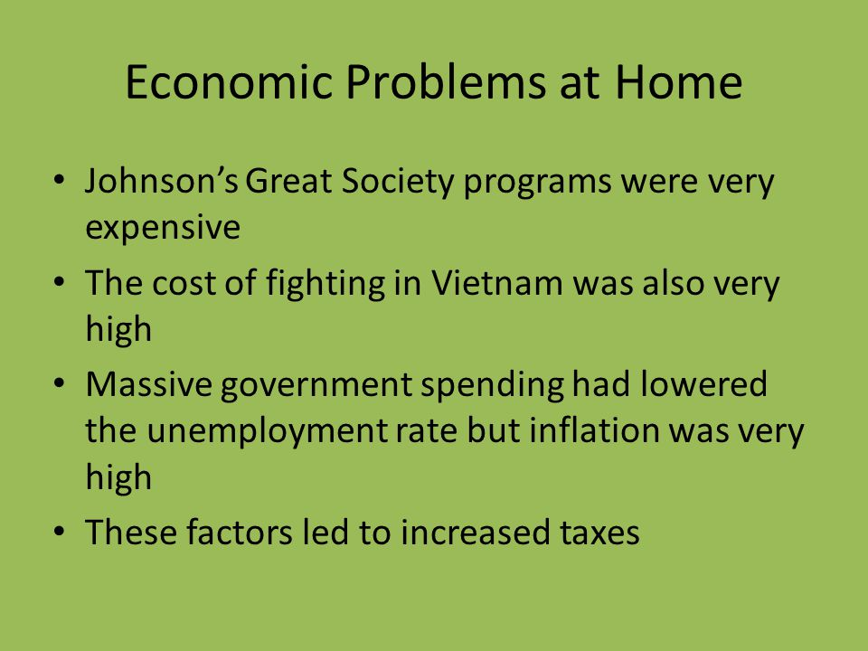 Economic Problems at Home