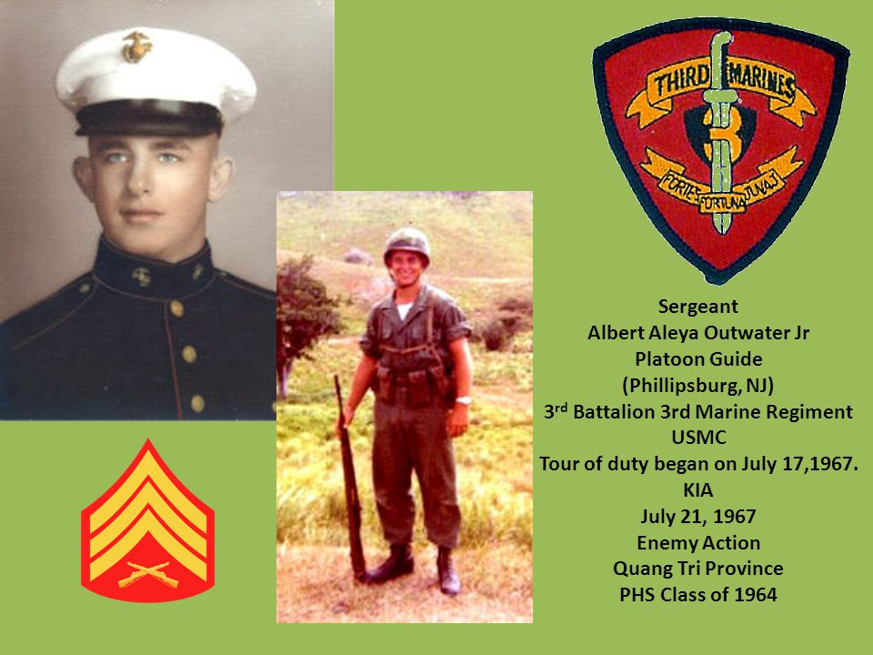 Albert Aleya Outwater Jr Platoon Guide (Phillipsburg, NJ)
