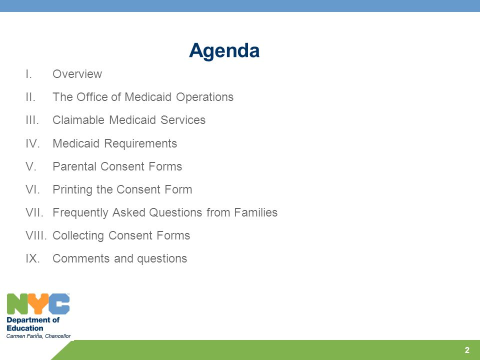 Agenda Overview The Office of Medicaid Operations