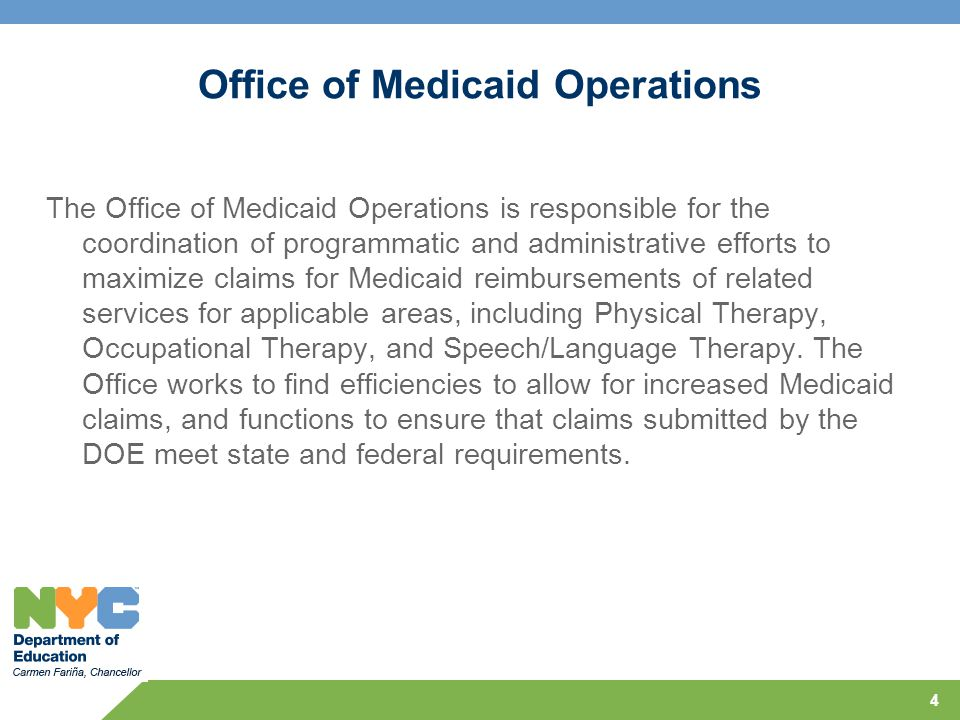 Office of Medicaid Operations