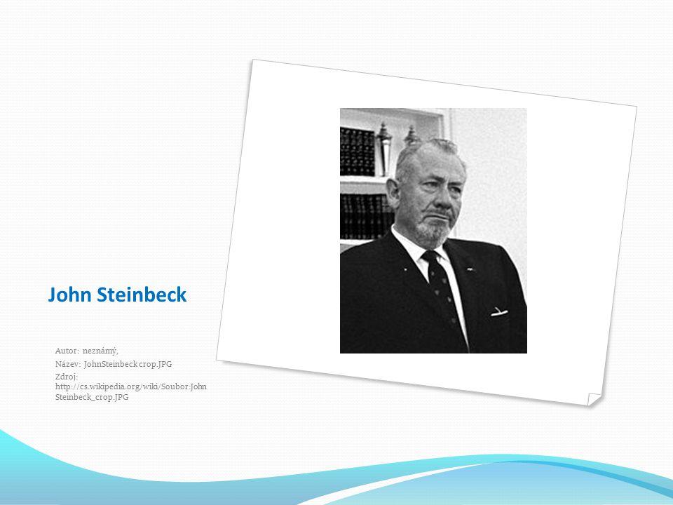John Steinbeck Autor: neznámý, Název: JohnSteinbeck crop.JPG