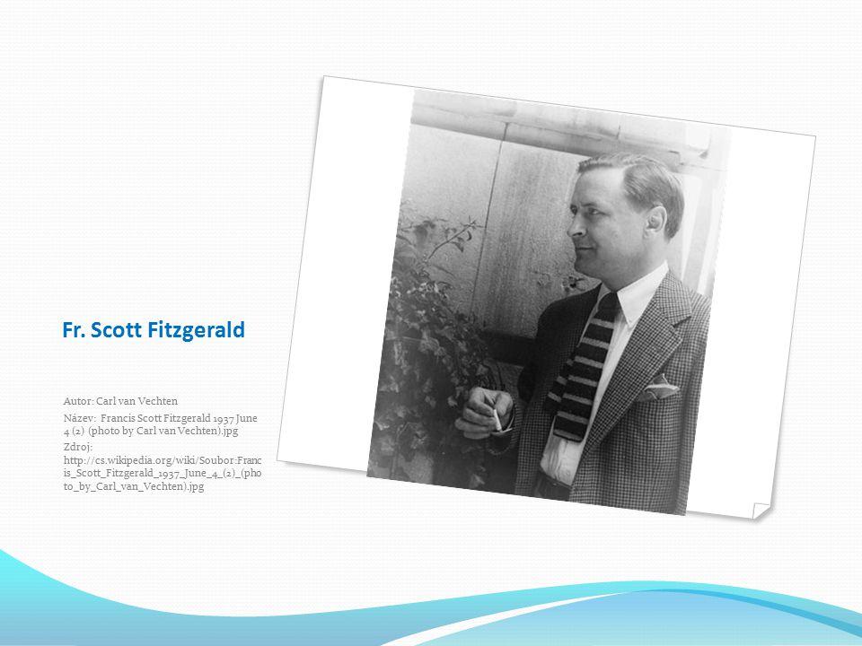 Fr. Scott Fitzgerald Autor: Carl van Vechten
