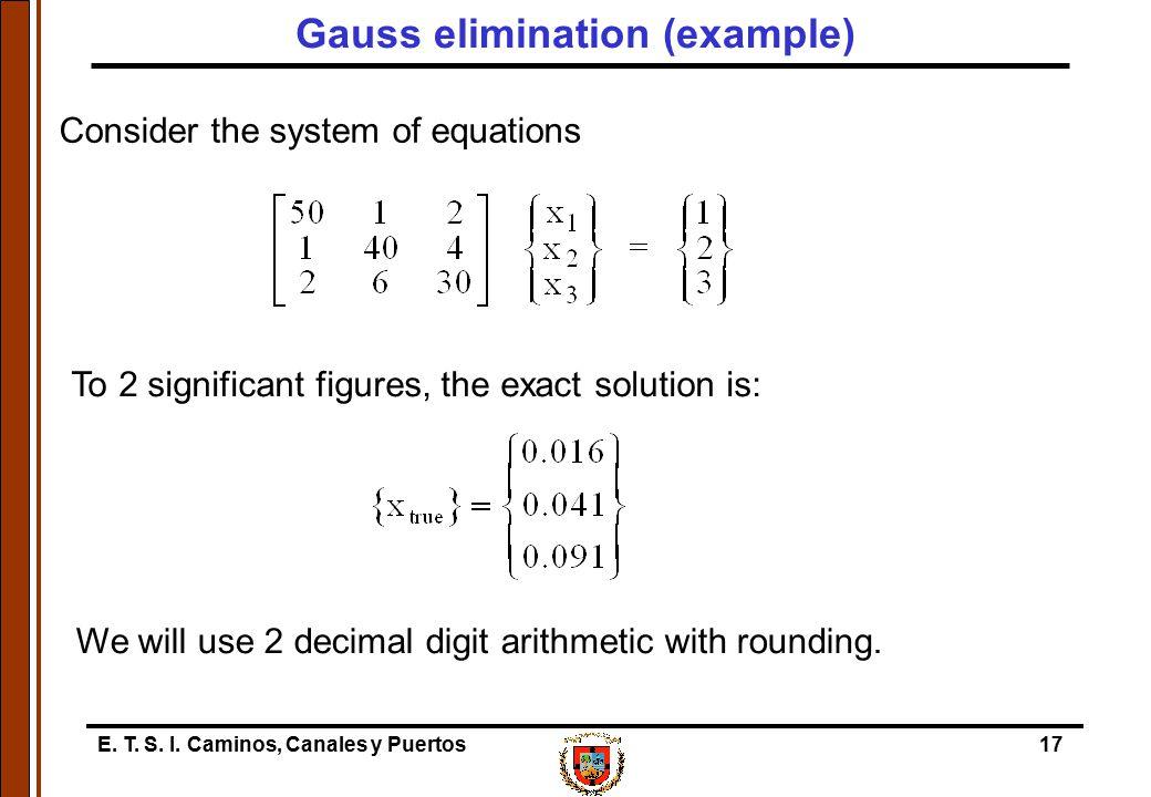 Gauss elimination (example)