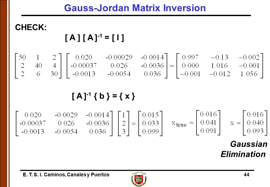 Gauss-Jordan Matrix Inversion