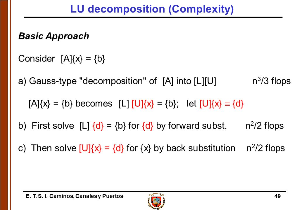 LU decomposition (Complexity)