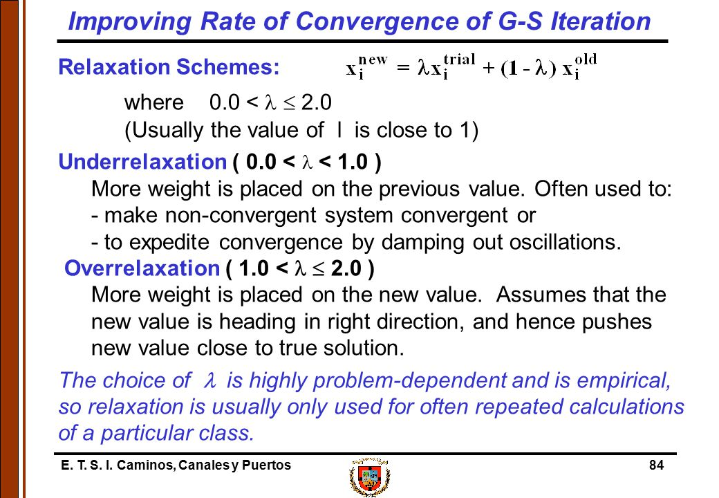 Improving Rate of Convergence of G-S Iteration