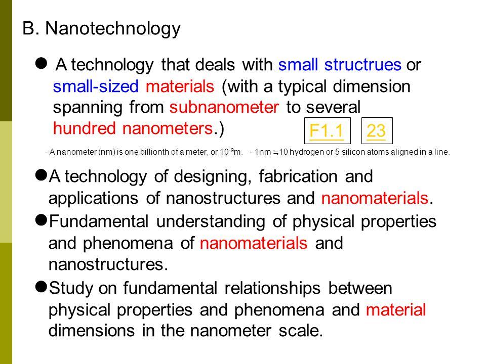 B. Nanotechnology
