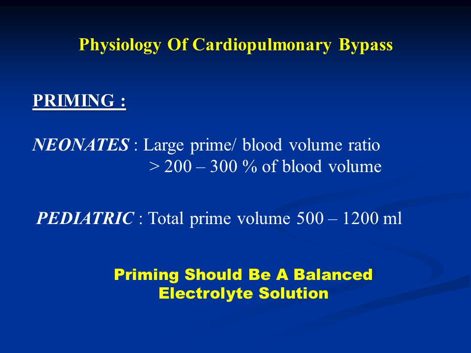 Physiology Of Cardiopulmonary Bypass