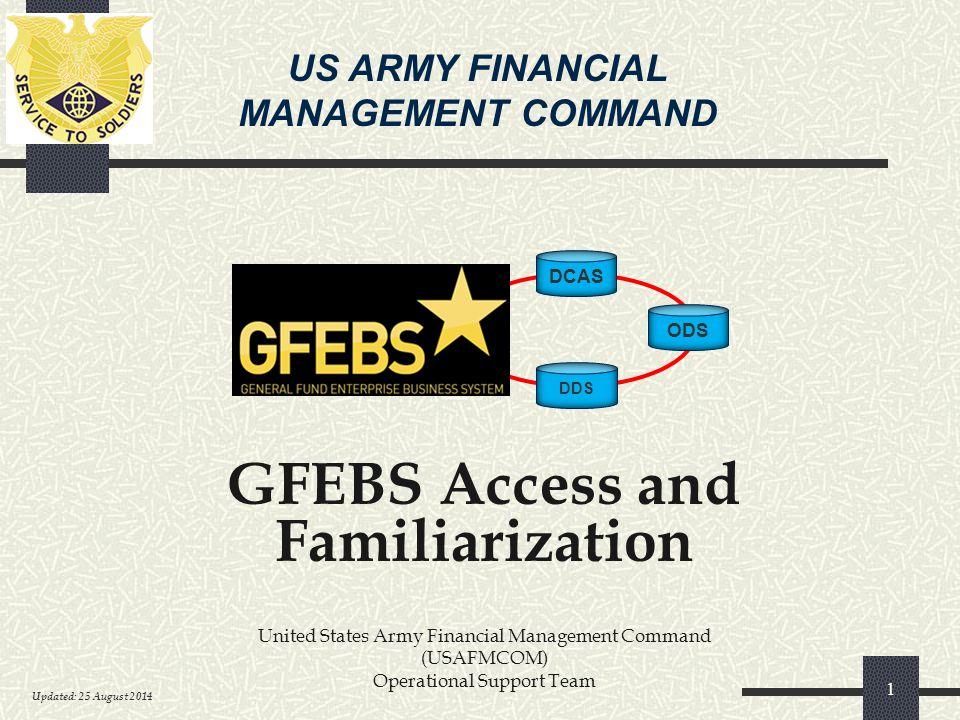 GFEBS Access and Familiarization