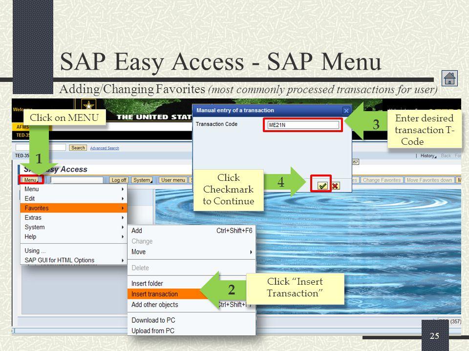 SAP Easy Access - SAP Menu