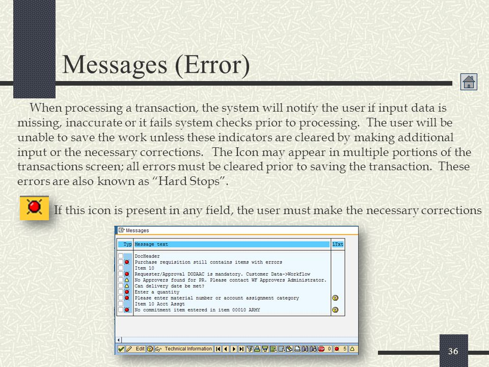 Messages (Error)