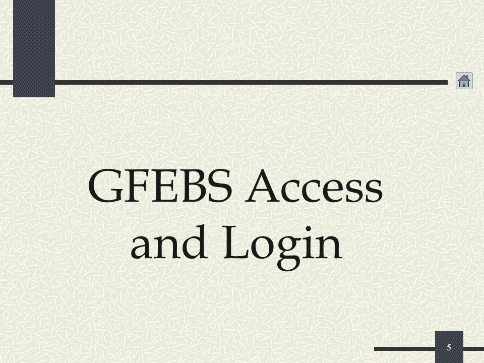 GFEBS Access and Login