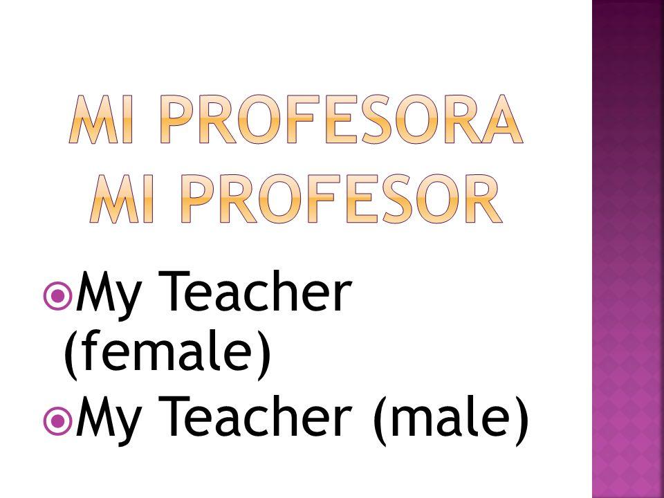 mi profesora mi profesor