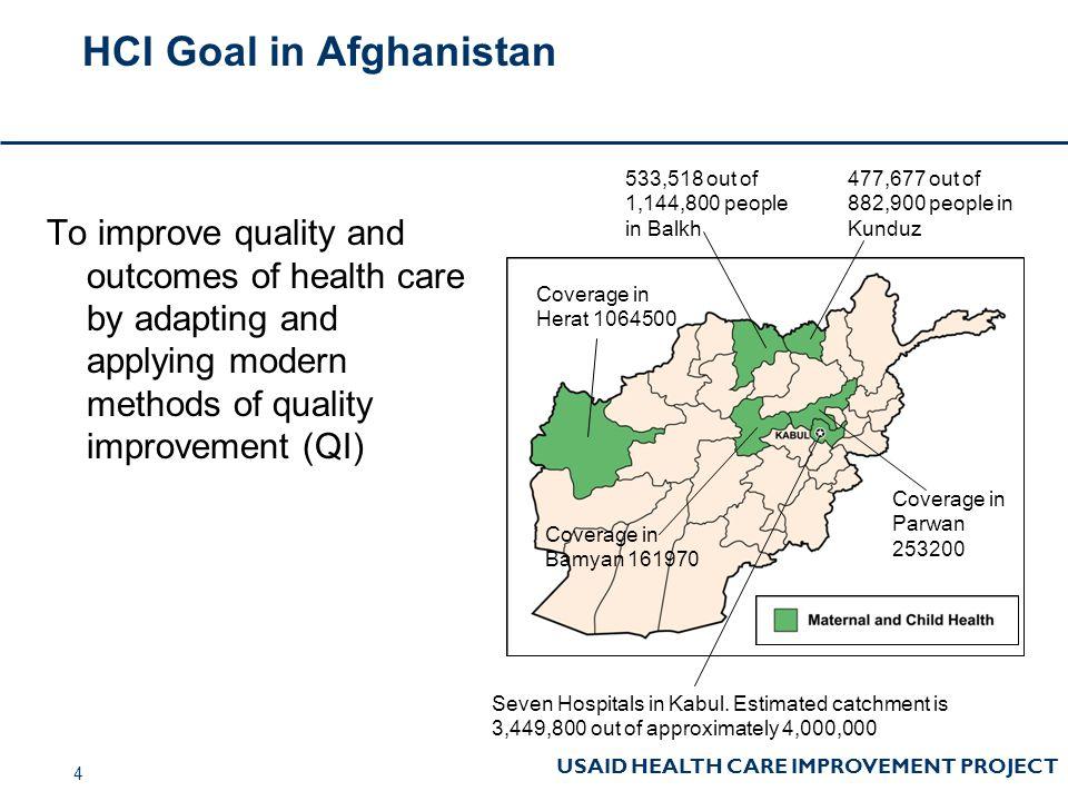 HCI Goal in Afghanistan