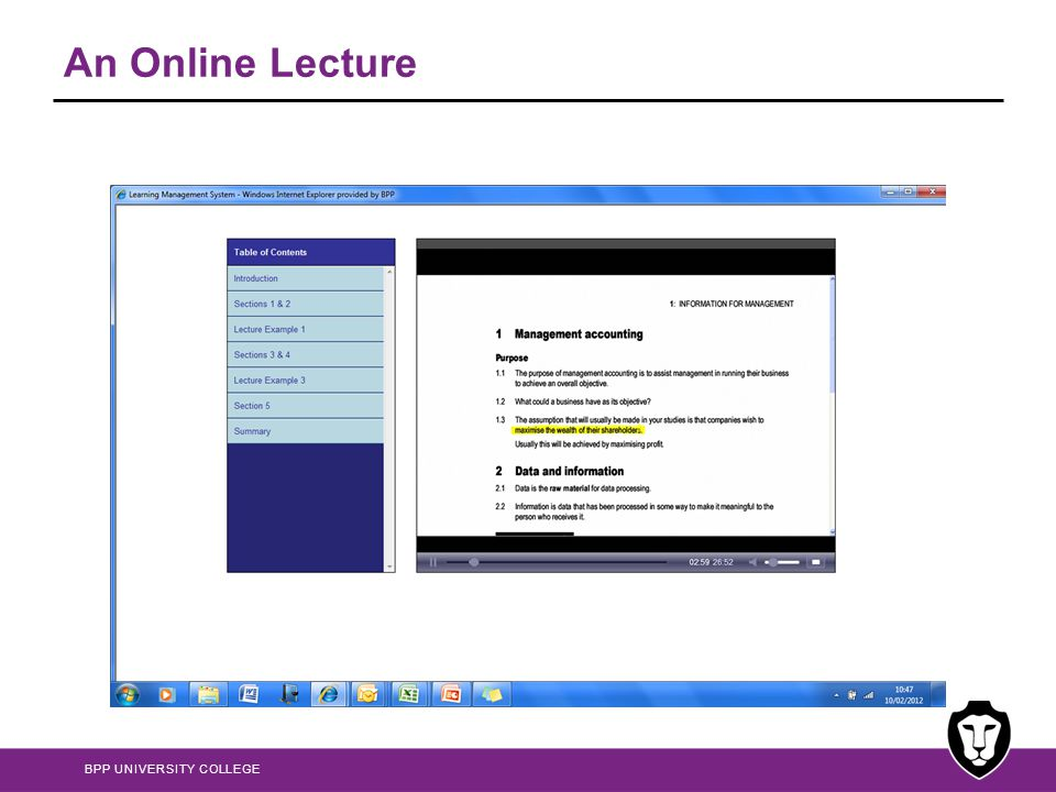 An Online Lecture