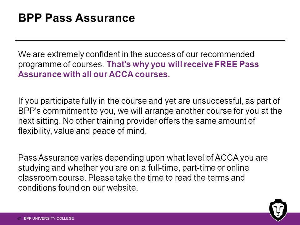 BPP Pass Assurance
