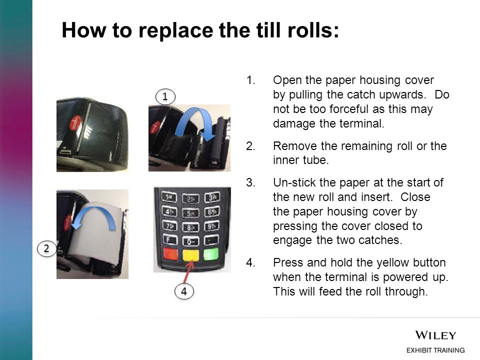 How to replace the till rolls: