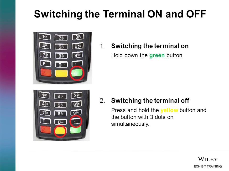 Switching the Terminal ON and OFF