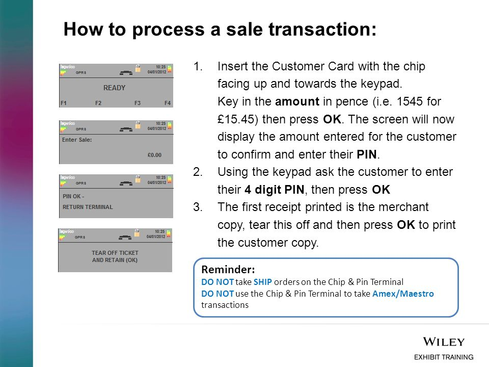 How to process a sale transaction: