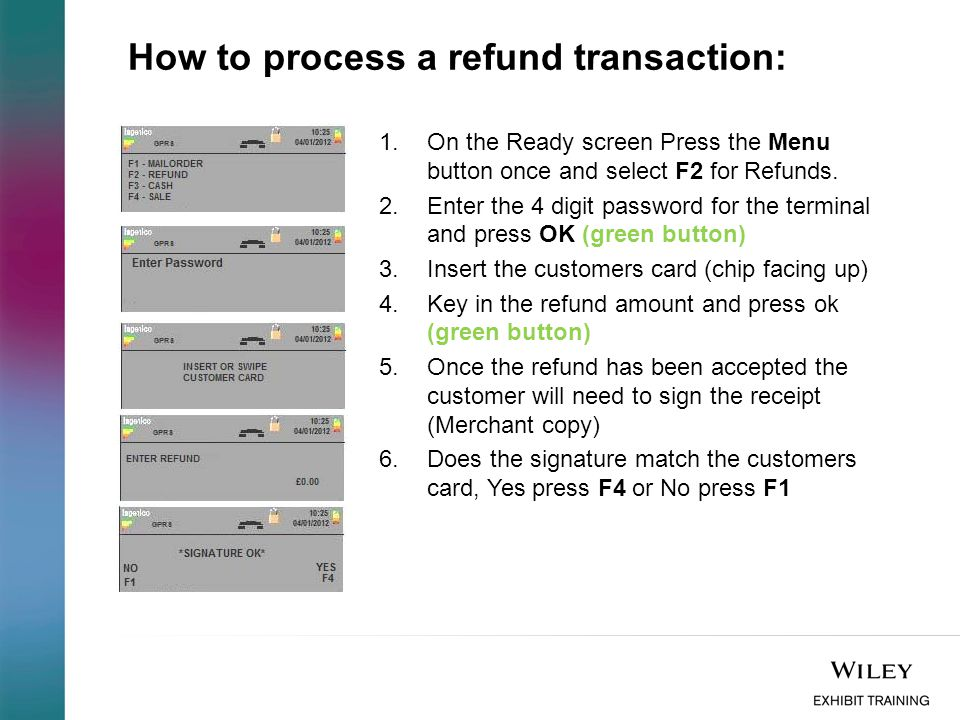 How to process a refund transaction:
