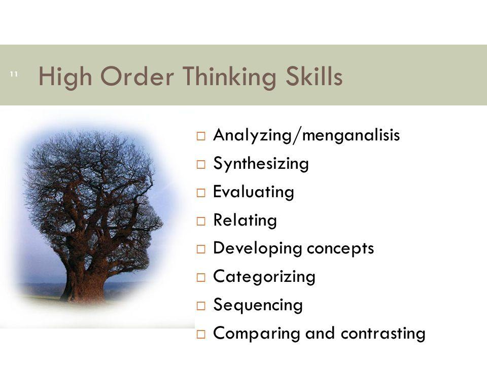 High Order Thinking Skills