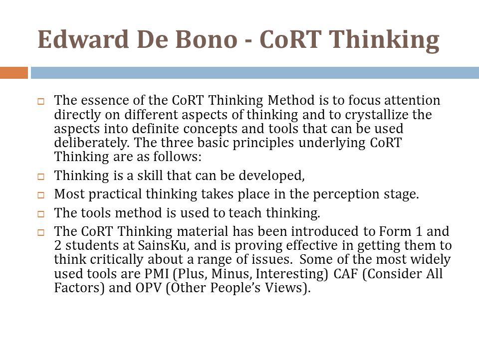 Edward De Bono - CoRT Thinking