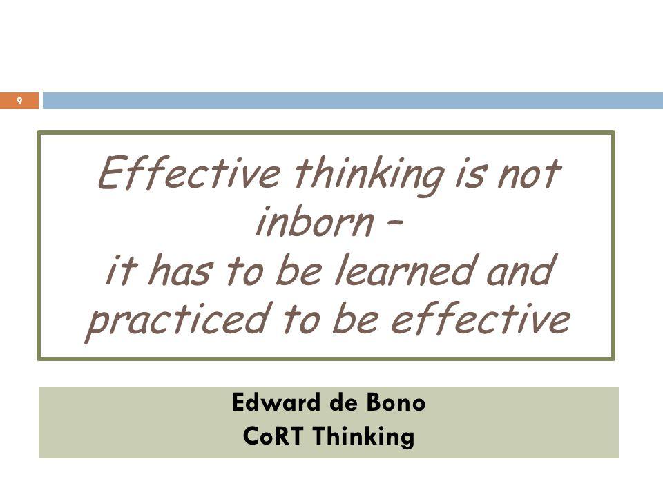 Edward de Bono CoRT Thinking
