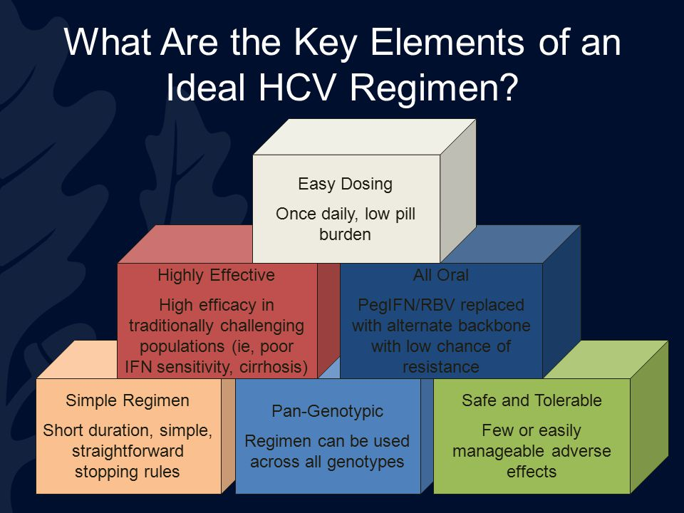 What Are the Key Elements of an Ideal HCV Regimen