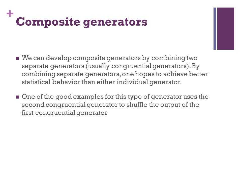 Composite generators