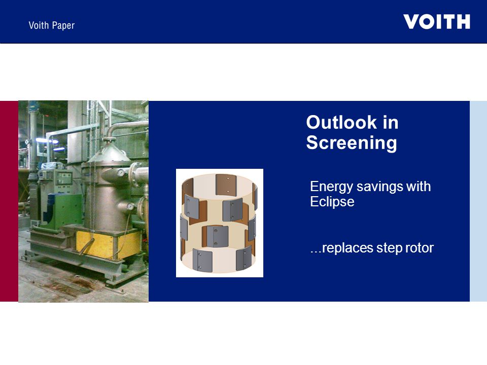 Energy savings with Eclipse ...replaces step rotor