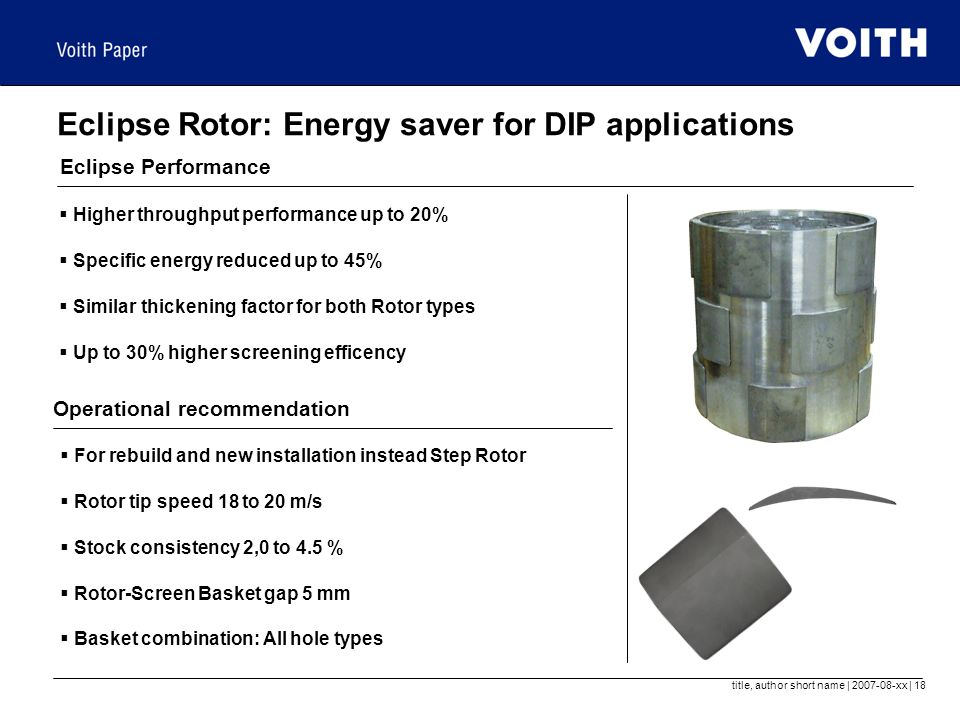 Eclipse Rotor: Energy saver for DIP applications