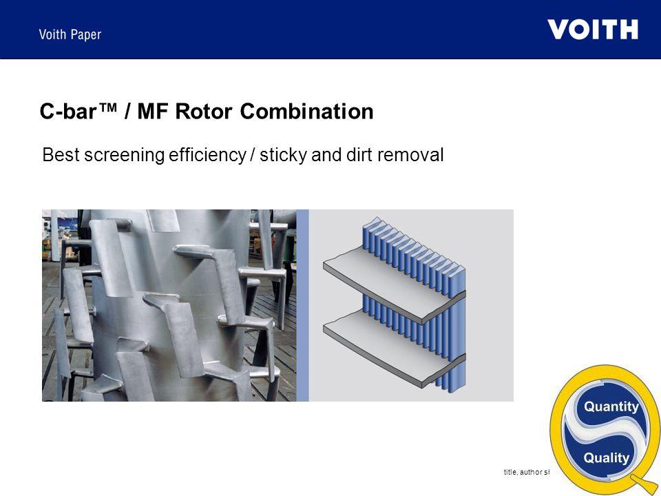 C-bar™ / MF Rotor Combination