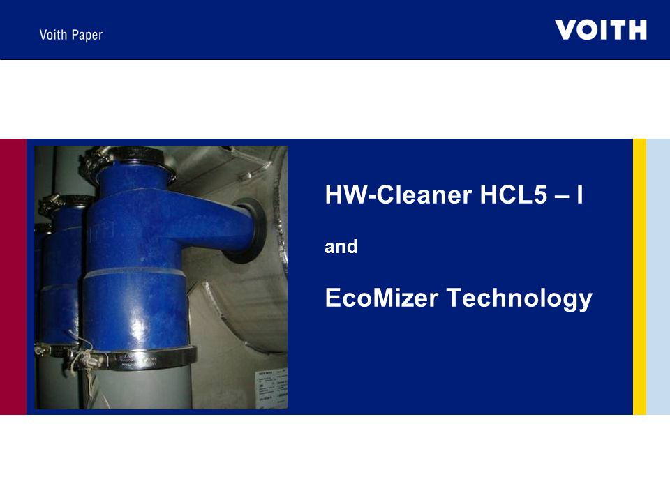 HW-Cleaner HCL5 – I and EcoMizer Technology