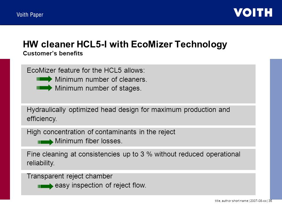 HW cleaner HCL5-I with EcoMizer Technology Customer's benefits