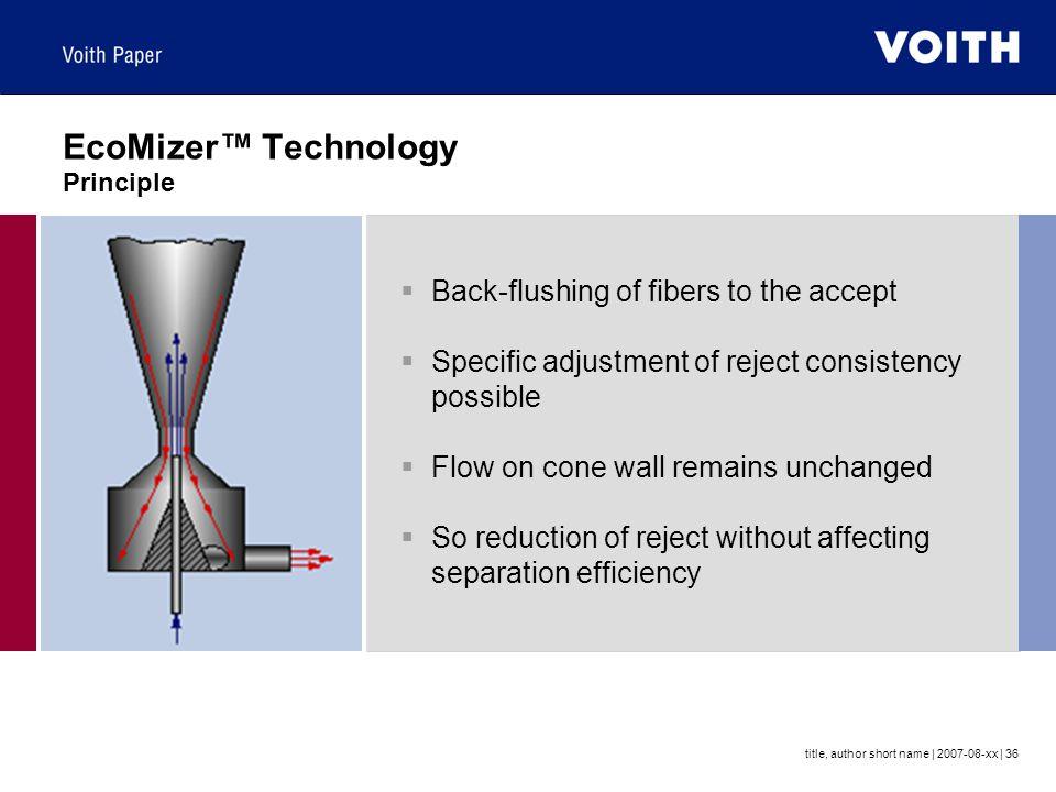 EcoMizer™ Technology Principle
