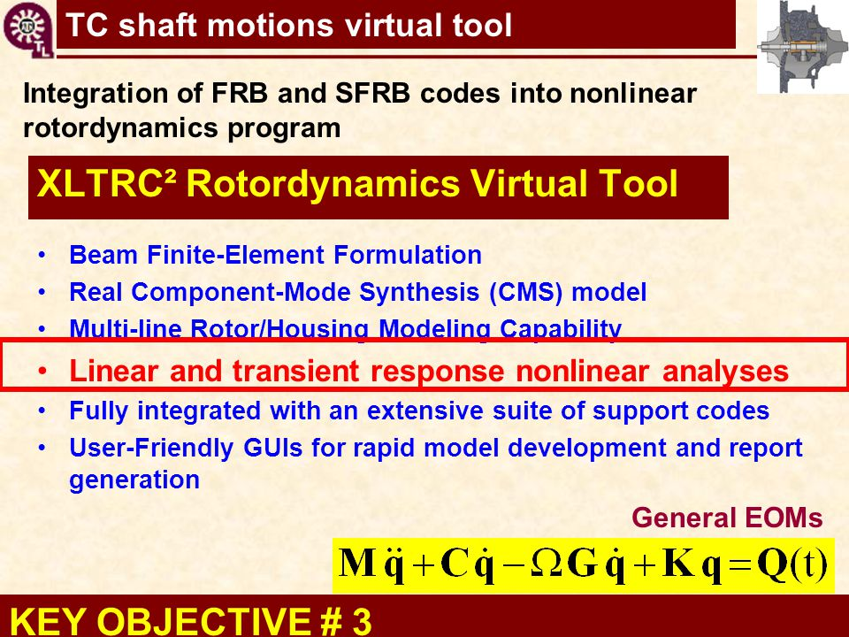 XLTRC² Rotordynamics Virtual Tool