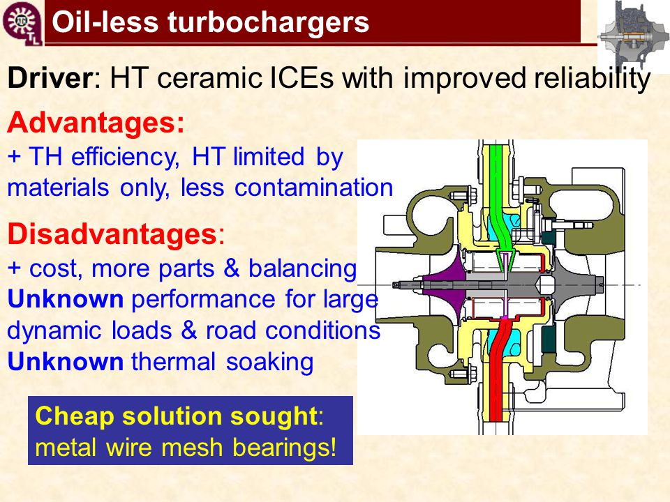 Oil-less turbochargers