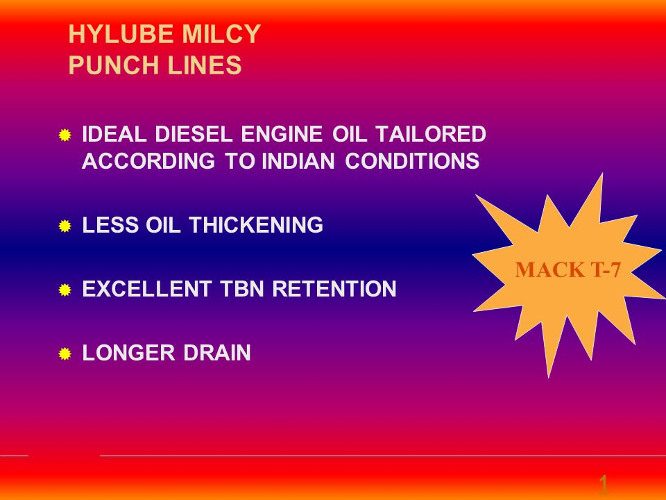 HYLUBE MILCY PUNCH LINES