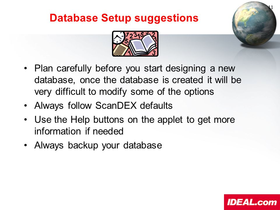Database Setup suggestions