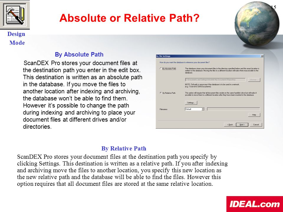 Absolute or Relative Path