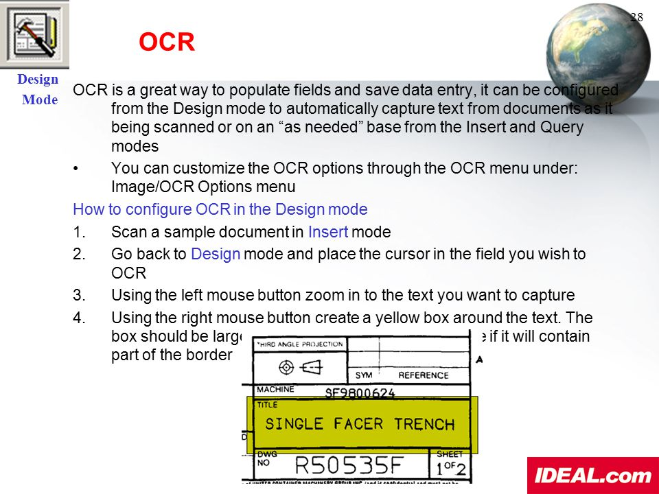 Design Mode. OCR. 28.