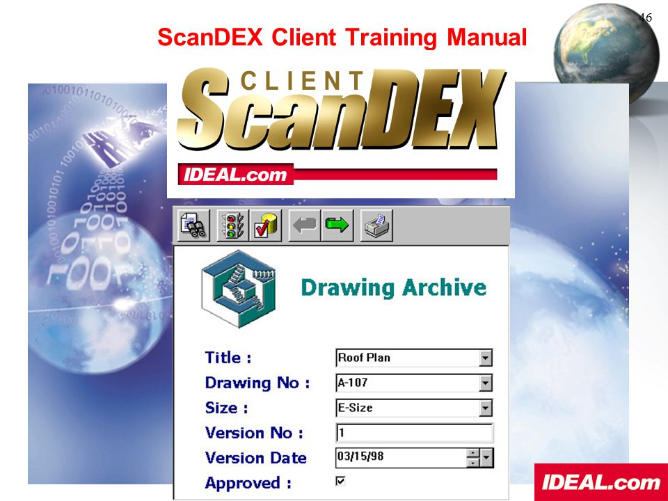 ScanDEX Client Training Manual
