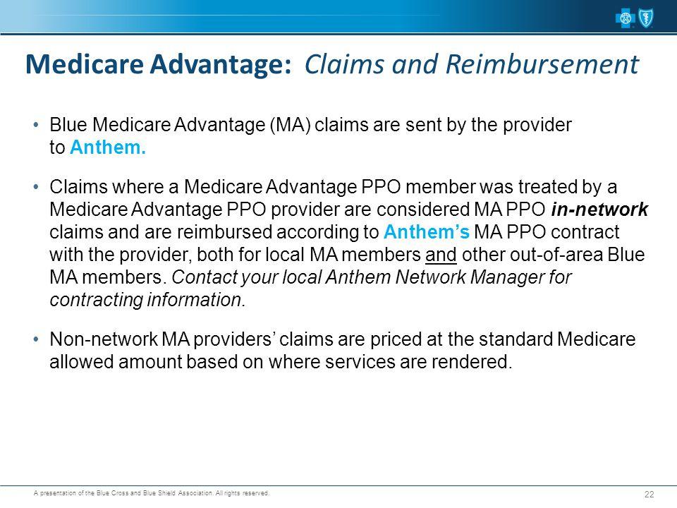 Medicare Advantage: Claims and Reimbursement