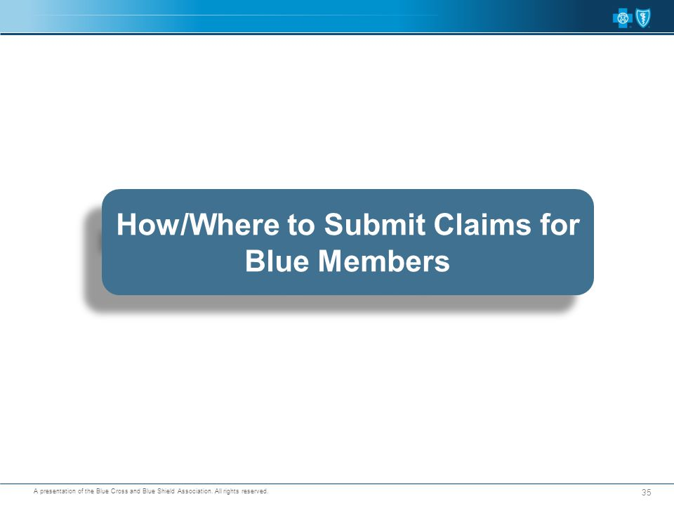 How/Where to Submit Claims for